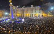 A large-scale action is held in Tbilisi demanding the release of Saakashvili