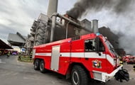 A major fire breaks out in Prague at a waste incineration plant