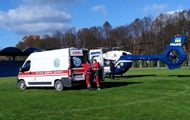 A teenager with suspected stroke was taken to a hospital in Lviv by helicopter