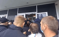 ATO veterans block the city council in Brovary