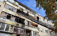 Children suffered in a fire in a five-story building in Lviv