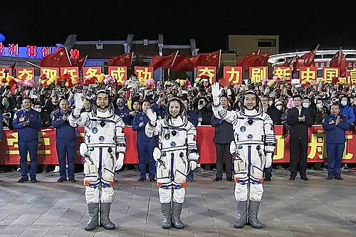 China sends three more astronauts to its space station