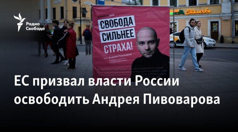 EU calls on Russian authorities to release Andrei Pivovarov