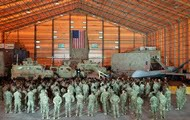 Explosion threat: US military base closed
