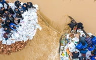 Heavy rains in China led to the evacuation of two million people