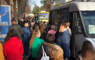 In Kherson, a transport collapse was formed due to checks of quarantine norms