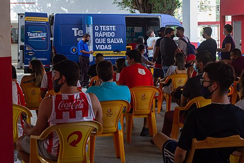 In Pernambuco, football games will have free mass testing points