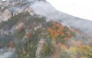 Large-scale wildfire rages in the Austrian Alps