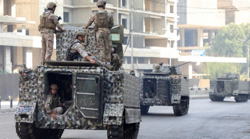 Military patrols maintain security in Beirut