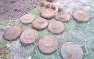 Mines from the war were found in the courtyard of a private house in the Zaporozhye region