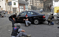 Shooting at a protest rally in Beirut, there are people killed