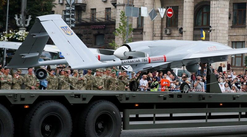 """The Ukrainian army for the first time struck at the enemy from the """"Bayraktar"""" drone"""