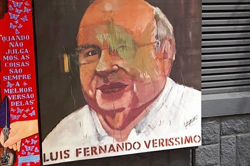 Vandalism in Verissimo's painting in downtown Porto Alegre will be answered with art