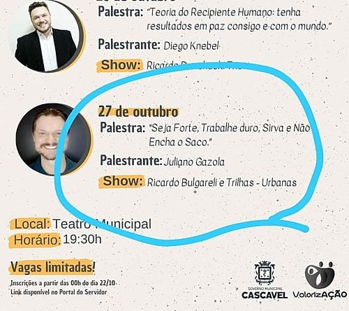 """""""Work hard and don't piss off"""": lecture for servers generates criticism in Cascavel (PR)"""